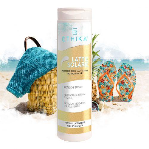 Latte solare protettivo estate per pelli sensibili